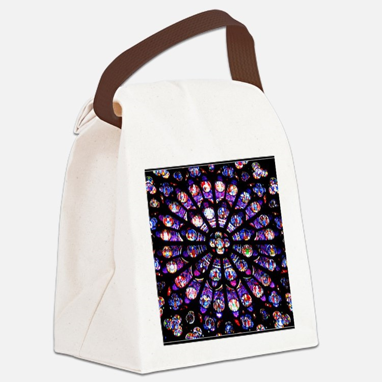 Stained Glass Canvas Lunch Bag