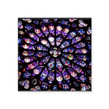"""Stained Glass Square Sticker 3"""" x 3"""""""