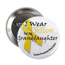 """i_wear_yellow_for_my_granddaughter 2.25"""" Button"""