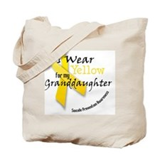 i_wear_yellow_for_my_granddaughter Tote Bag