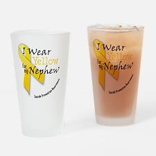 i_wear_yellow_for_my_nephew Drinking Glass