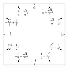 Math Clock (L)(Cart) Square Car Magnet 3
