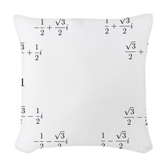 Math Clock (L)(Cart) Woven Throw Pillow