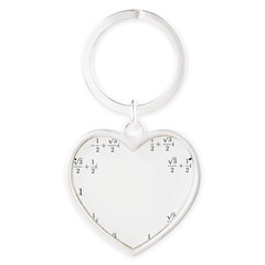 Math Clock (L)(Cart) Heart Keychain