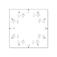 Math Clock (L)(Cart) Square Sticker 3