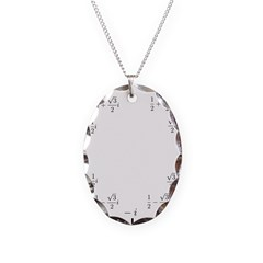 Math Clock (L)(Cart) Necklace Oval Charm