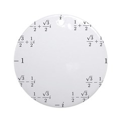 Math Clock (L)(Cart) Round Ornament