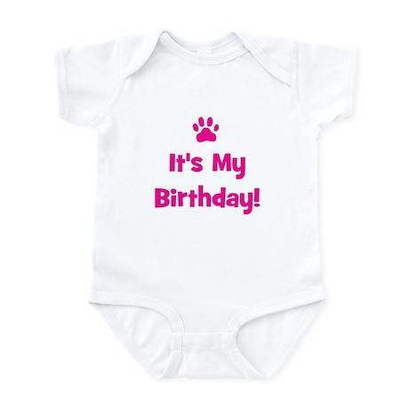 It's My Birthday - Pink Paw Infant Bodysuit