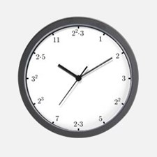Math Clock (L)(primes) Wall Clock