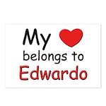 My heart belongs to edwardo Postcards (Package of