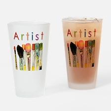 artist-paint-brushes-01 Drinking Glass
