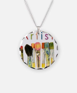 artist-paint-brushes-01 Necklace