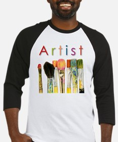 artist-paint-brushes-01 Baseball Jersey