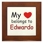 My heart belongs to edwardo Framed Tile