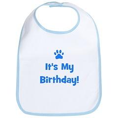It's My Birthday - Blue Paw Bib