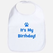It's My Birthday - Blue Paw Bib
