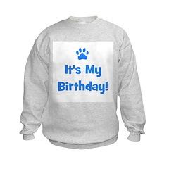 It's My Birthday - Blue Paw Sweatshirt