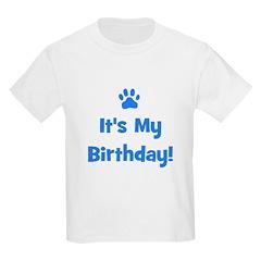 It's My Birthday - Blue Paw Kids T-Shirt