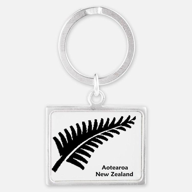 Medium Fern - NZ-Aotearoa Text Landscape Keychain