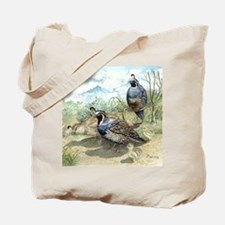 Quail on a Summer Day Tote Bag