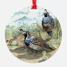 Quail on a Summer Day Ornament