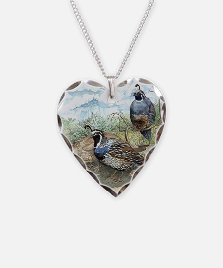 Quail on a Summer Day Necklace