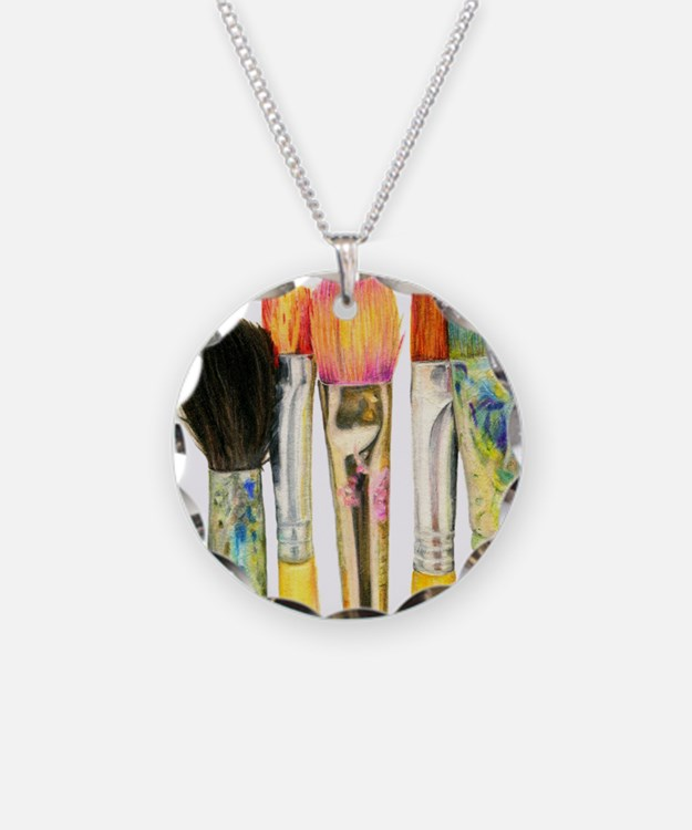 artist-paint-brushes-02 Necklace