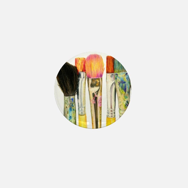 artist-paint-brushes-02 Mini Button
