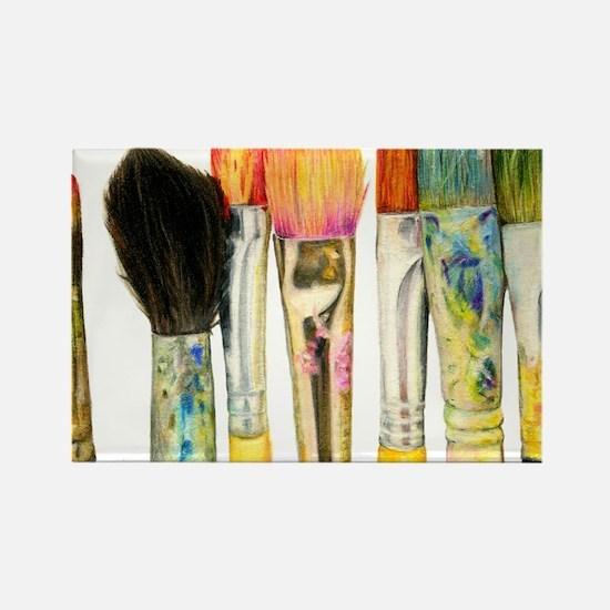 artist-paint-brushes-02 Rectangle Magnet