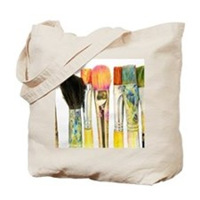 artist-paint-brushes-02 Tote Bag
