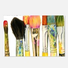 artist-paint-brushes-02 Postcards (Package of 8)
