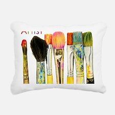 artist-paint-brushes-02 Rectangular Canvas Pillow