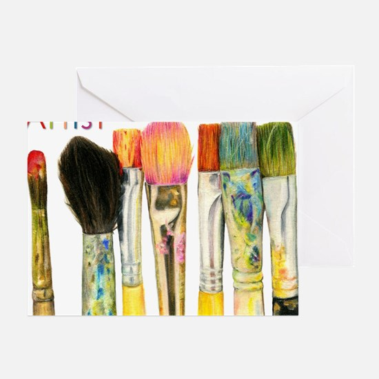 artist-paint-brushes-02 Greeting Card