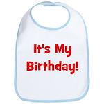 It's My Birthday! Red Bib