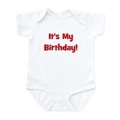 It's My Birthday! Red Infant Bodysuit