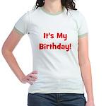 It's My Birthday! Red Jr. Ringer T-Shirt