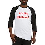 It's My Birthday! Red Baseball Jersey