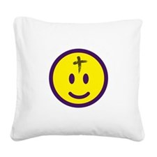 AshWed2_Dark Square Canvas Pillow
