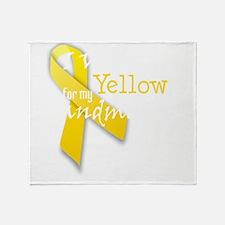 trans_i_wear_yellow_for_my_grandmoth Throw Blanket