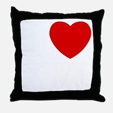 I_Love_XVI_Dark Throw Pillow