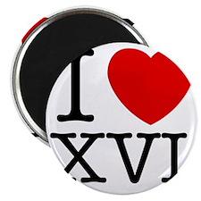 I_Love_XVI_Light Magnet