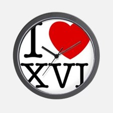 I_Love_XVI_Light Wall Clock