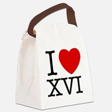 I_Love_XVI_Light Canvas Lunch Bag