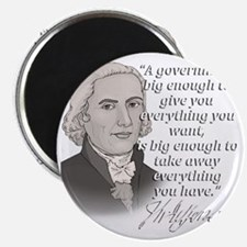 Jefferson Quote for dark Magnet