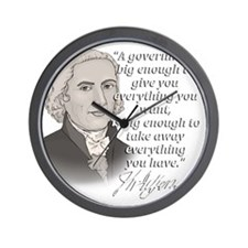 Jefferson Quote for dark Wall Clock