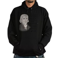 Jefferson Quote for light Hoodie