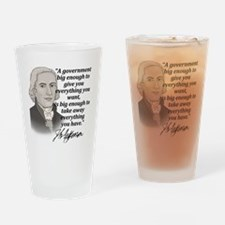 Jefferson Quote for light Drinking Glass