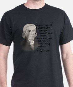 Jefferson Quote for light T-Shirt