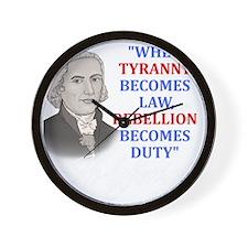 Tyranny for dark2 Wall Clock