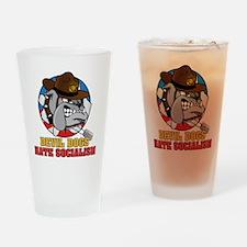 M-201-D_DevilDogHateSocialism Drinking Glass